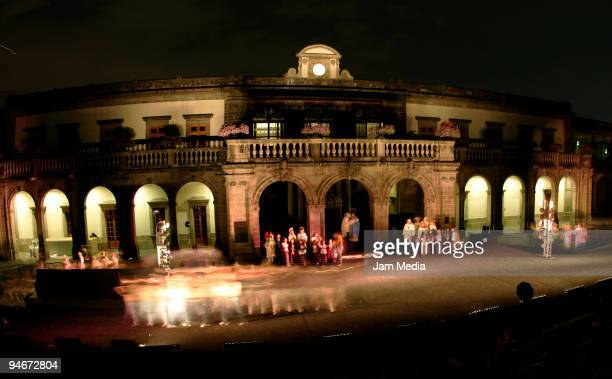 General aspect of the `Navidades in Mexico' rehearsal performed by the Ballet Floklorico de Mexico Amalia Hernandez's for the first time at the...