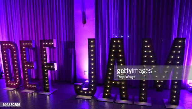General atmosphere as Def Jam Recordings Celebrates the Holidays with Patron Tequila at Spring Place on December 14 2017 in New York City