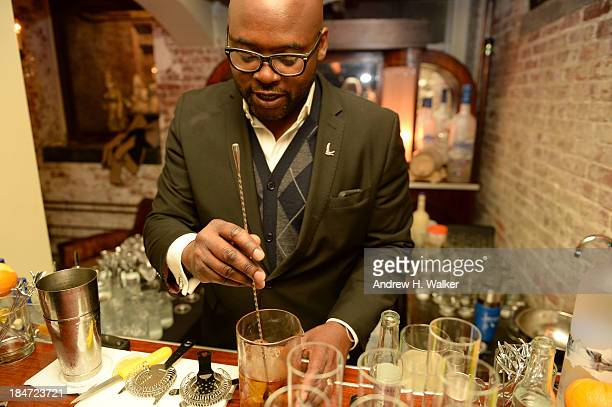 General atmosphere as GREY GOOSE Vodka hosts an exclusive speakeasy at the Boulangerie Picardie on October 15 2013 in New York City