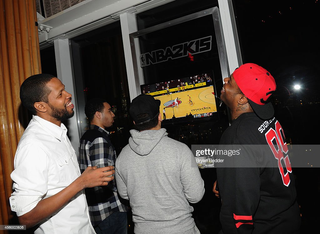 General atmosphere as guest play the game during NBA 2K15 Launch Celebration at The Standard on September 23, 2014 in New York City.