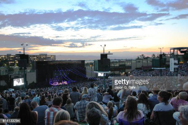 General atmosphere as Jack Johnson performs at Fiddler's Green Amphitheatre on July 13 2017 in Englewood Colorado