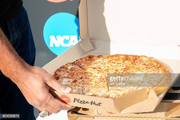 General atmosphere at a ceremony to officially rename the city as Terre Hut in celebration of Pizza Hut's partnership with the NCAA and the Division...