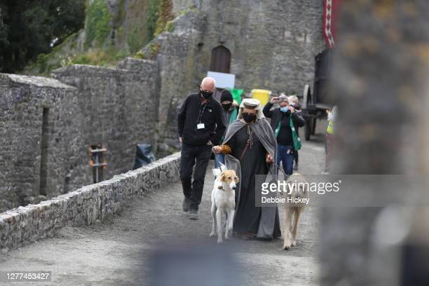 General atmosphere at Cahir Castle where the film 'The Last Duel' is being shot on September 29, 2020 in Cahir, Co.Tipperary, Ireland.