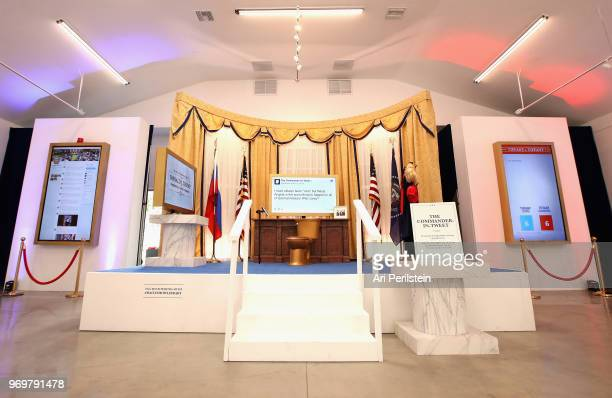 General atmosphere at Comedy Central's The Daily Show Presents The Donald J Trump Presidential Twitter Library in Los Angeles on June 8 2018 in West...