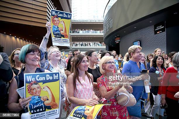 General atmosphere at EMILY's List Breaking Through 2016 at the Democratic National Convention at Kimmel Center for the Performing Arts on July 27...