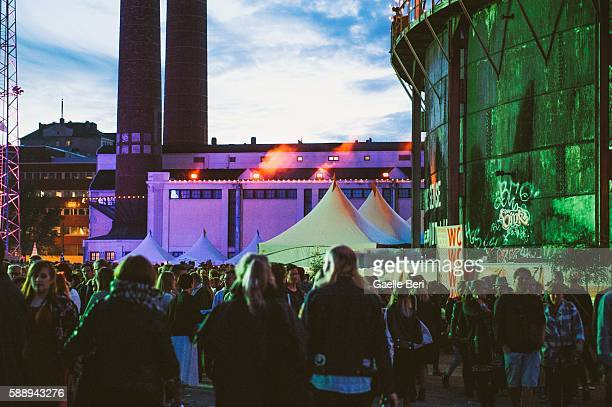 General atmosphere at Flow Festival on August 12 2016 in Helsinki Finland