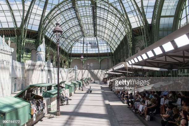 General atmosphere at Grand Palais before the Chanel Haute Couture Fall/Winter 20182019 show as part of Haute Couture Paris Fashion Week on July 3...