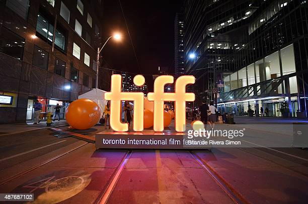 General Atmosphere at King St West on September 10 2015 in Toronto Canada