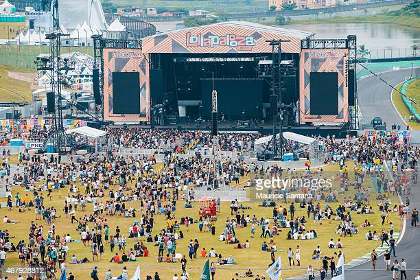 General atmosphere at Lollapalooza Brazil 2015 at Autodromo de Interlagos on March 28 2015 in Sao Paulo Brazil