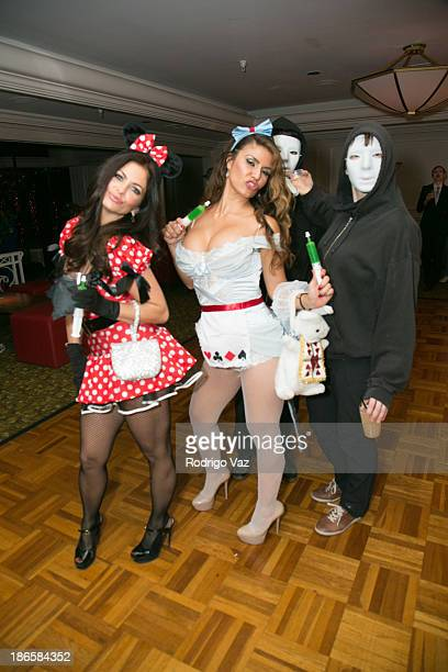 General atmosphere at Maroon 5's 9th Annual Halloween Party at The Sportsman's Lodge on October 31 2013 in Studio City California