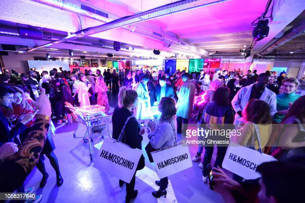 General atmosphere at MOSCHINO [tv] HM Launch Party at Le Dernier Etage on November 6 2018 in Paris France