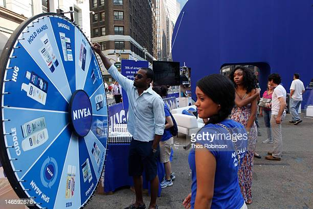 General atmosphere at NIVEA Celebrates National PDA Day In New York City's Herald Square on June 20 2012 in New York City