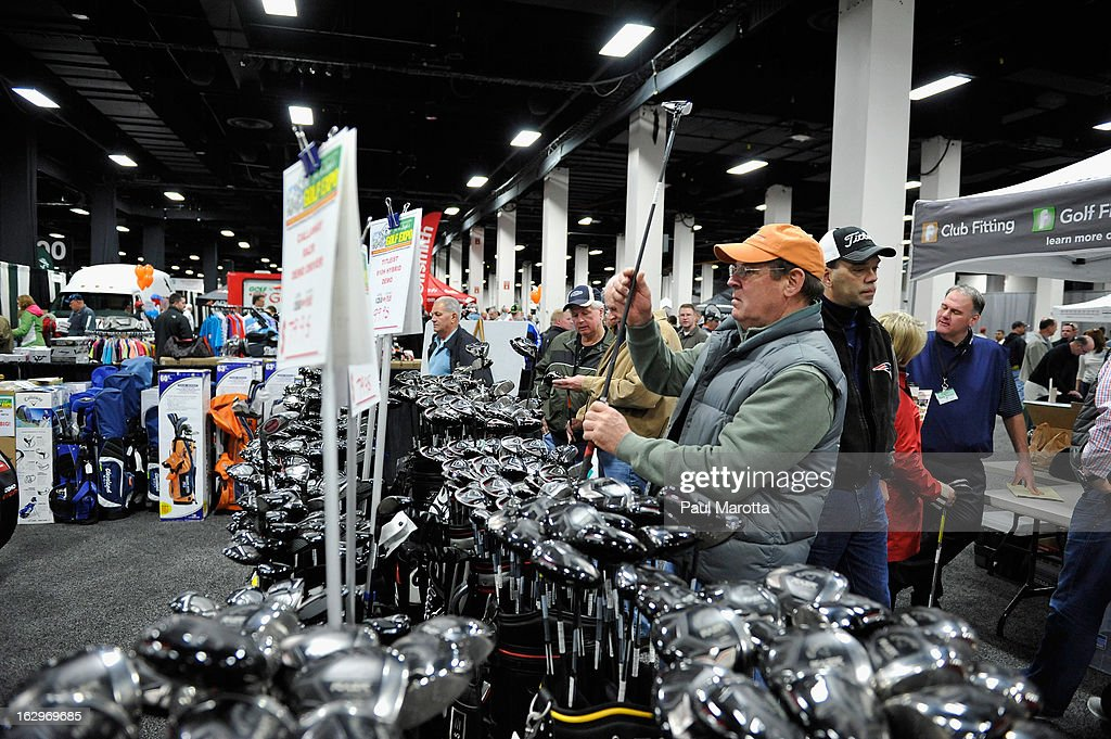 General atmosphere at the 2013 National Golf Expo at Seaport World Trade Center on March 2, 2013 in Boston, Massachusetts.