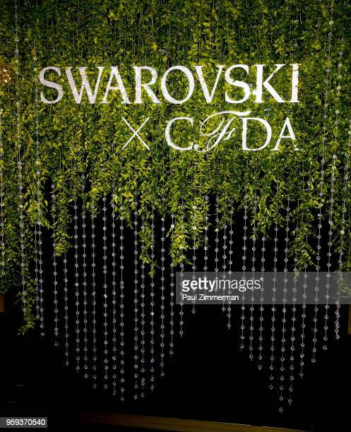 General atmosphere at the 2018 CFDA Fashion Awards' Swarovski Award For Emerging Talent Nominee Cocktail Party at DUMBO House on May 16 2018 in New...
