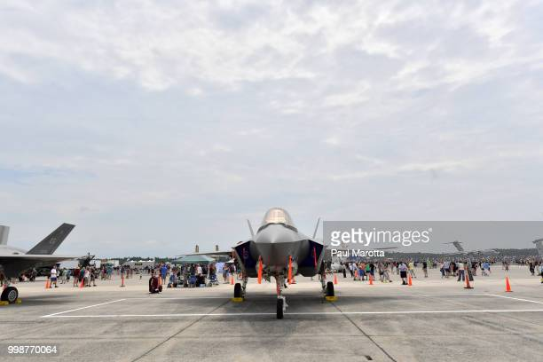 General atmosphere at the 2018 Great New England Air and Space Show on July 14 2018 in Chicopee Massachusetts