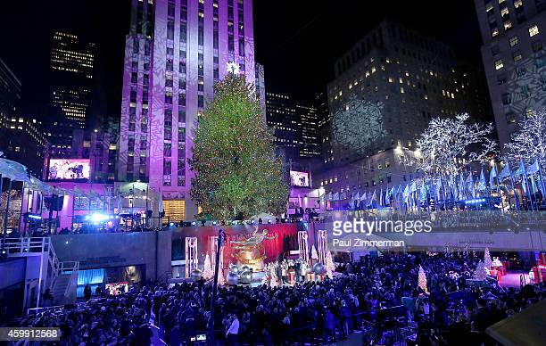 General atmosphere at the 82nd Annual Rockefeller Center Christmas Tree Lighting on December 3 2014 in New York City