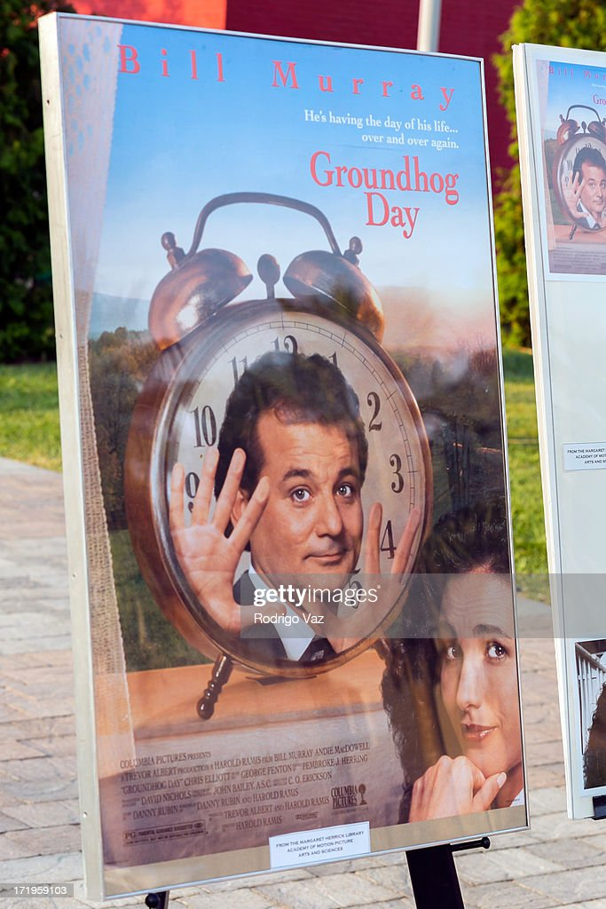 "The Academy of Motion Picture Arts And Sciences Hosts ""Oscars Outdoors"" With A Screening Of ""Groundhog Day"" : News Photo"