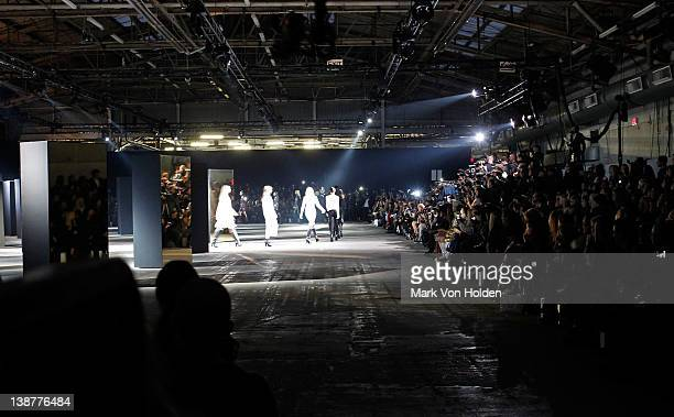 General atmosphere at the Alexander Wang fall 2012 fashion show at Pier 94 on February 11 2012 in New York City