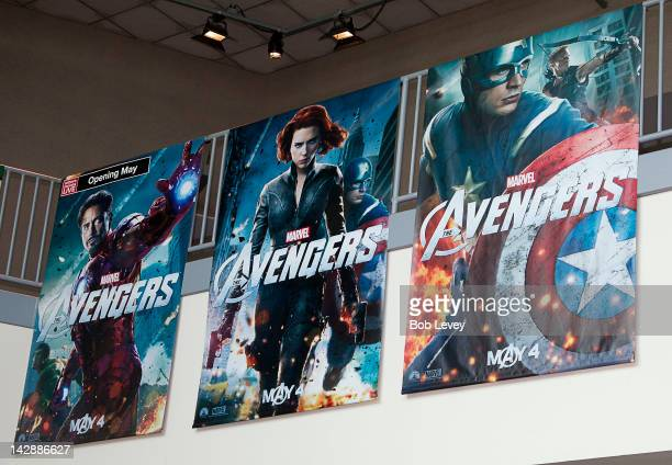 """General atmosphere at the AMC 30 Gulf Pointe where fans attend a special viewing of Marvel's """"The Avengers"""" on April 14, 2012 in Houston, Texas. Fans..."""