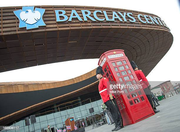 General atmosphere at the announcement of Paul McCartney's return to New York on the all new 2013 Out There tour at Barclays Center on April 18 2013...