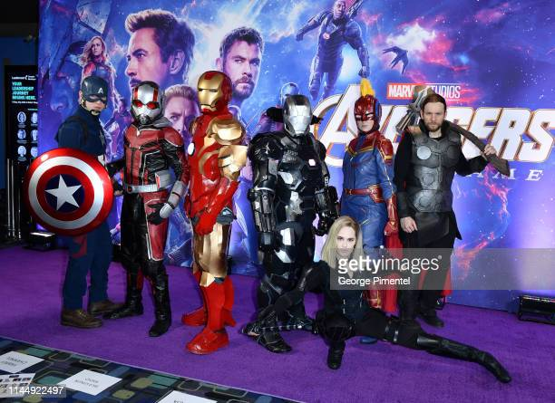 General atmosphere at the 'Avengers Endgame' Canadian Premiere at Scotiabank Theatre on April 24 2019 in Toronto Canada