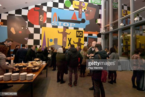 General atmosphere at the Boston ICA Opening Reception of works by Tschabalala Self and Carolina Caycedo sponsored by Max Mara at ICA Boston on...
