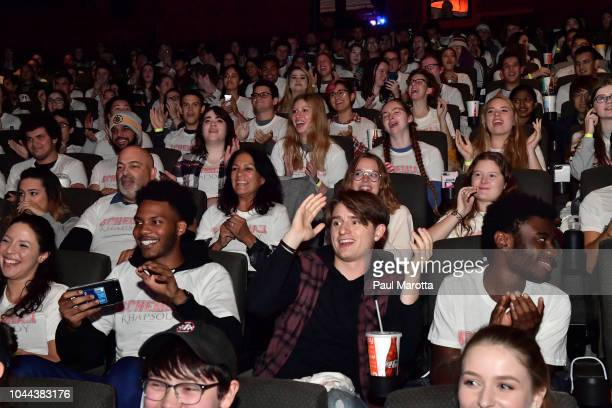 General atmosphere at the Boston red carpet screening of 'Bohemian Rhapsody' the film about the rock band Queen and its lead singer Freddie Mercury...