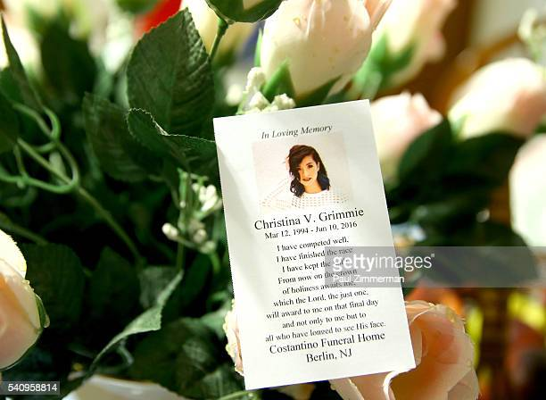 General atmosphere at the Christina Grimmie Memorial Service Christina Grimmie died from a fatal injury after being shot by a deranged fan after a...