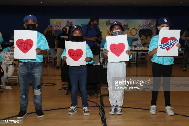 General Atmosphere at the Dodgers And Walmart Distribute Back-To-School Backpacks to Youth at the Variety Boys & Girls Club in Boyle Heights on...