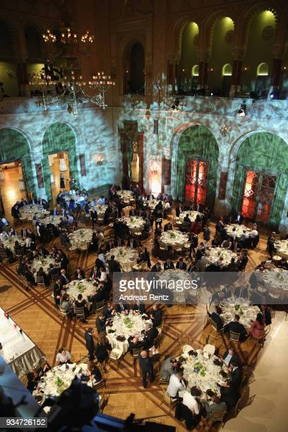 General atmosphere at the gala dinner for the Kaspersky Lab European Strategic Session on March 19 2018 in Budapest Hungary