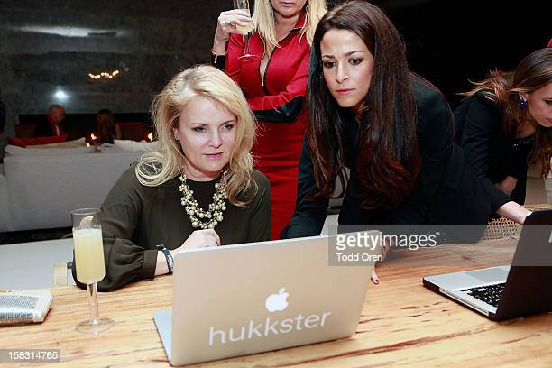General atmosphere at the Hukkster Holiday Party Hosted by Louise Roe and Founders Katie Finnegan and Erica Bell at a Private Residence on December...
