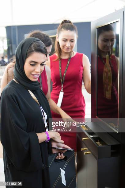 General atmosphere at the launch of the F1 fragrance at the Formula 1 Etihad Airways Grand Prix Yas Marina Circuit on November 30 2019 in Abu Dhabi...