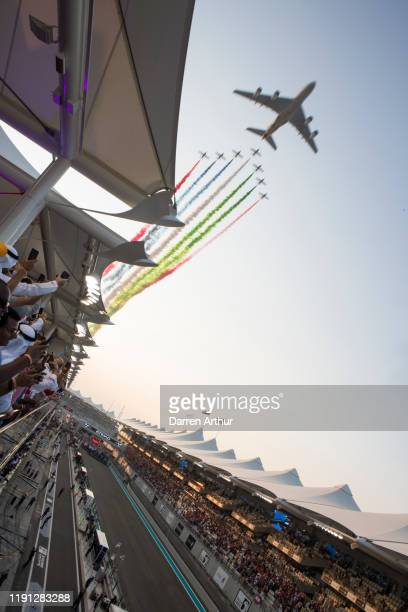 General atmosphere at the launch of the F1 fragrance at the Formula 1 Etihad Airways Grand Prix Yas Marina Circuit on December 1 2019 in Abu Dhabi...