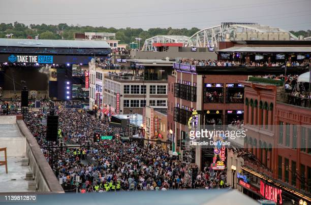 General atmosphere at the St Jude Rock 'n' Roll Marathon and ½ Marathon and the 2019 NFL Draft Experience on April 27 2019 in Nashville Tennessee