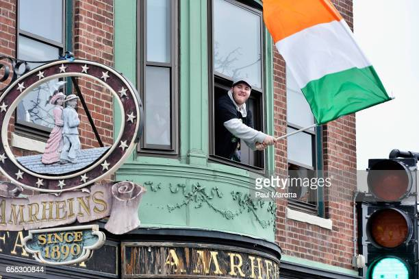 General atmosphere at the St Patrick's Day Parade on March 19 2017 in Boston Massachusetts