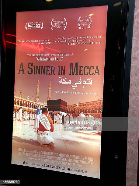 General atmosphere at the theatrical premiere of 'A Sinner In Mecca' New York premiere at Cinema Village on September 4 2015 in New York City