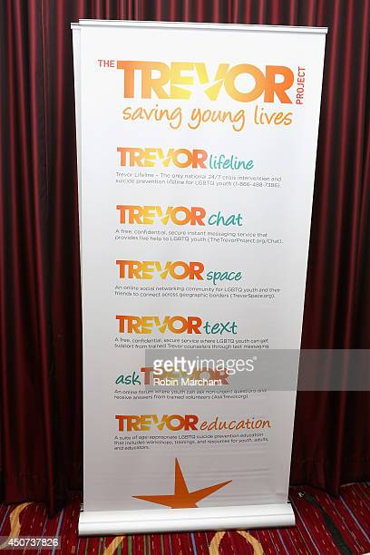 General atmosphere at the Trevor Project's 2014 'TrevorLIVE NY' Event at the Marriott Marquis Hotel on June 16 2014 in New York City