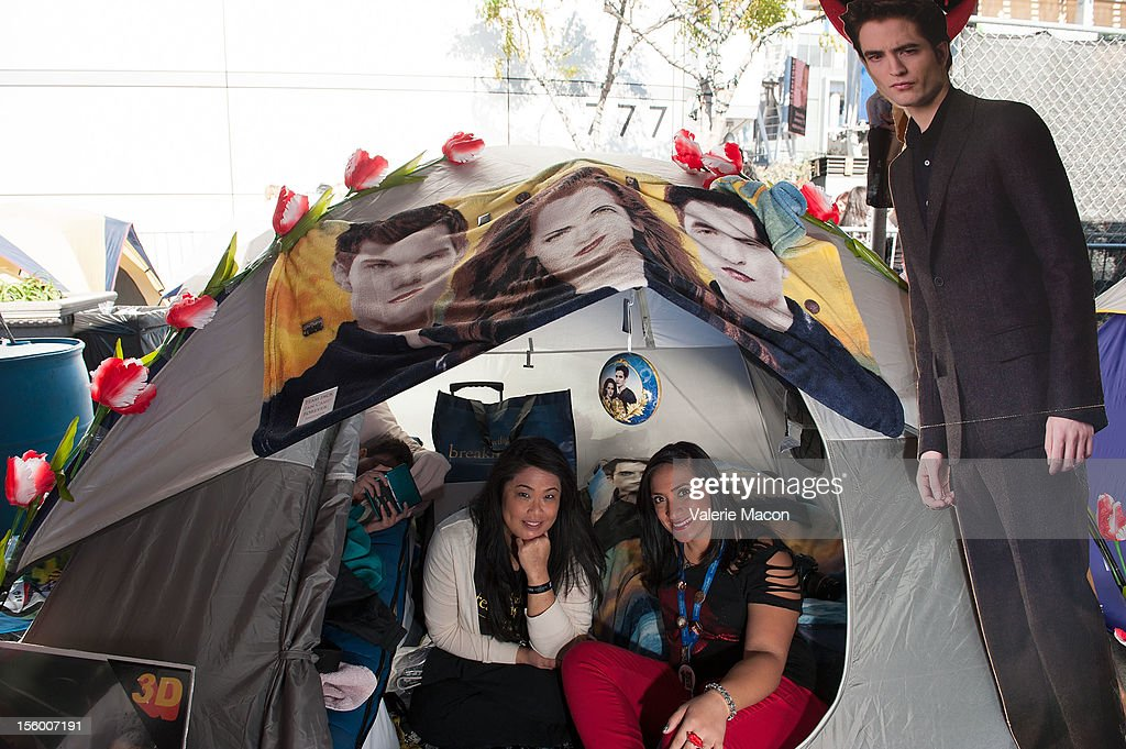 Breaking Dawn Part 2' Fan Camp at L.A. LIVE on November 11, 2012 in Los Angeles, California.
