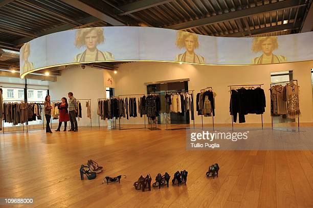 General atmosphere at the Twin-Set store during Milan Fashion Week Womenswear Autumn/Winter 2011on February 24, 2011 in Milan, Italy.