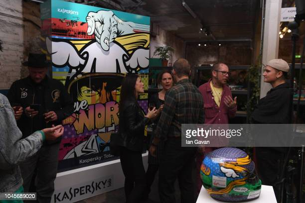 General Atmosphere at the unveiling of the first-ever Formula art car by Kaspersky Lab and street artist D*Face at Moniker Art Fair in East London on...