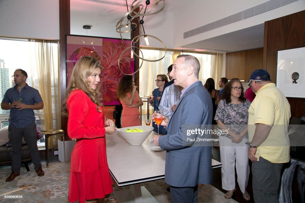 General atmosphere at the US Open Weekend: with professional tennis players Andy Murray And Jamie Murray to Introduce The New Roche Bobois Presidential Suite At Langham Place, New York on August 26, 2017 in New York City.