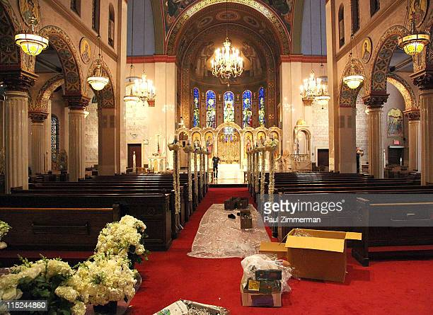 General atmosphere at the wedding of Andrea Catsimatidis and Christopher Nixon Cox at the Greek Orthodox Cathedral Of The Holy Trinity on June 4 2011...