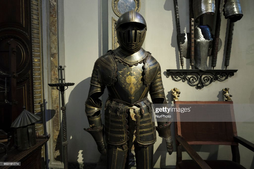 General atmosphere Bagatti Valsecchi in Milan, Italy, on 30 April, 2018. The Bagatti Valsecchi Museums collections principally contain Italian Renaissance decorative arts some sculptures. European Renaissance weapons, armor, clocks and a few textiles and scientific complete the collection assembled by the Barons Bagatti Valsecchi, and displayed in their home, as per their wishes.