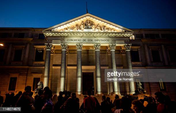 General atmosphere during Alfredo Perez Rubalcaba funeral chapel at the Spanish Parliament on May 10 2019 in Madrid Spain Rubalcaba aged 67 died...