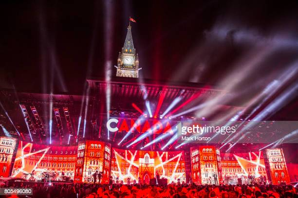 General atmosphere during Canada Day celebrations at Parliament Hill on July 1 2017 in Ottawa Canada