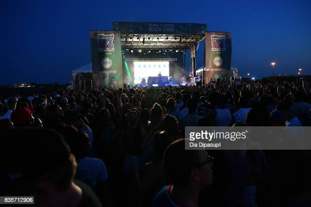 General atmosphere during Day One of 2017 Billboard Hot 100 Festival at Northwell Health at Jones Beach Theater on August 19 2017 in Wantagh City