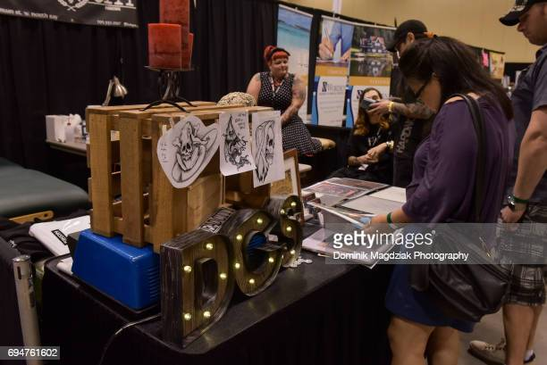 """General atmosphere during day two of the """"19th Annual Northern Ink Xposure Tattoo Convention"""" at the Metro Toronto Convention Centre on June 10, 2017..."""