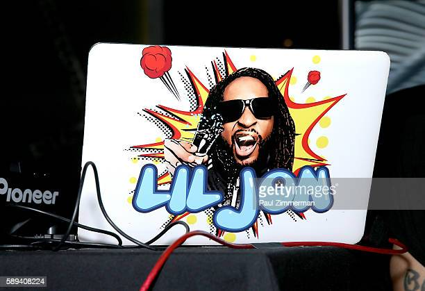 General atmosphere during rapper Lil Jon's performance as a DJ at Mount Airy Casino Resort's Get Wet on August 13 2016 in Mount Pocono Pennsylvania