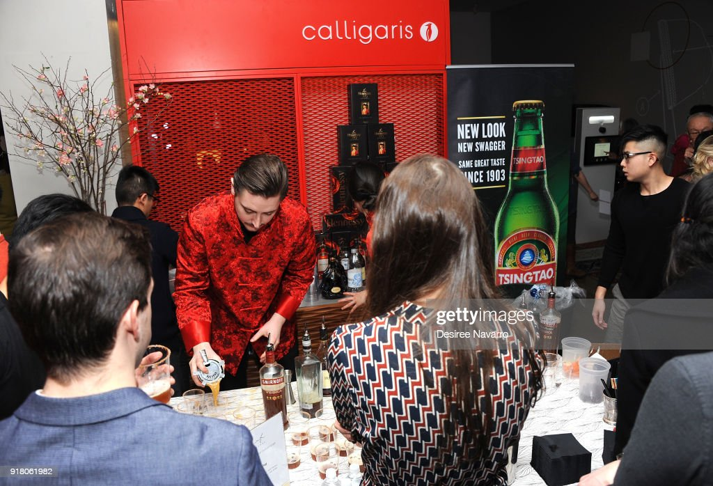 General atmosphere during the 2018 Red & Gold Party at Calligaris SoHo on February 13, 2018 in New York City.