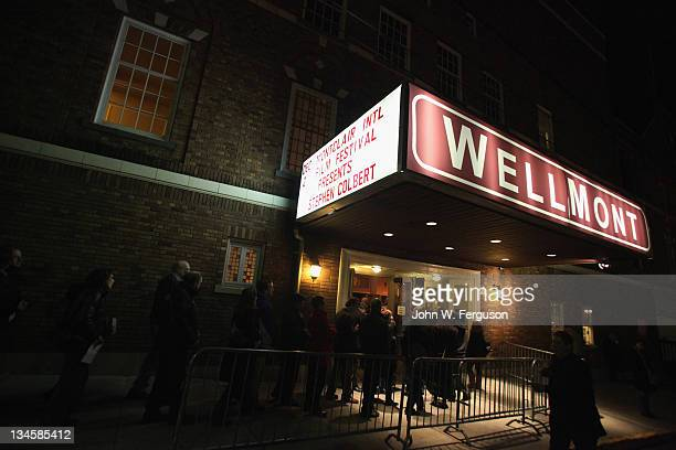 General atmosphere during the benefit for the Montclair Film Festival at The Wellmont Theatre on December 2 2011 in Montclair New Jersey
